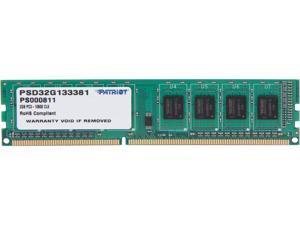 Patriot Signature 2GB 240-Pin DDR3 SDRAM DDR3 1333 (PC3 10600) Desktop Memory Model PSD32G133381