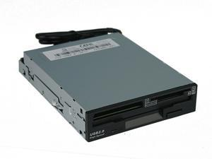 "Rosewill RCR-FD200 All-in-one USB 2.0 Black 3.5"" Card Reader with 1.44MB Floppy Drive"
