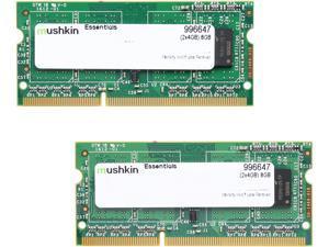 Mushkin Enhanced 8GB (2 x 4GB) 204-Pin DDR3 SO-DIMM DDR3 1333 (PC3 10666) Dual Channel Kit Laptop Memory Model 996647