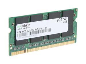 Mushkin Enhanced 4GB 200-Pin DDR2 SO-DIMM DDR2 800 (PC2 6400) Laptop Memory Model 991741