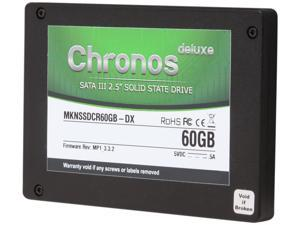 "Mushkin Enhanced Chronos Deluxe MKNSSDCR60GB-DX 2.5"" 60GB SATA III Synchronous MLC Internal Solid State Drive (SSD)"