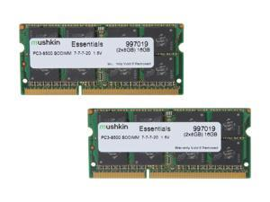 Mushkin Enhanced Essentials 16GB (2 x 8G) 204-Pin DDR3 SO-DIMM DDR3 1066 (PC3 8500) Laptop Memory Model 997019