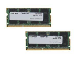 Mushkin Enhanced Essentials 16GB (2 x 8G) 204-Pin DDR3 SO-DIMM DDR3L 1600 (PC3L 12800) Laptop Memory Model 997038