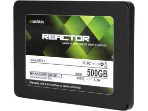 "Mushkin Enhanced Reactor LT 2.5"" 500GB SATA III MLC Internal Solid State Drive (SSD) MKNSSDRE500GB-LT"