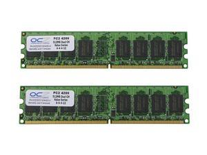 OCZ Value Series 1GB (2 x 512MB) 240-Pin DDR2 SDRAM DDR2 533 (PC2 4200) Dual Channel Kit Desktop Memory Model OCZ25331024VDC-K
