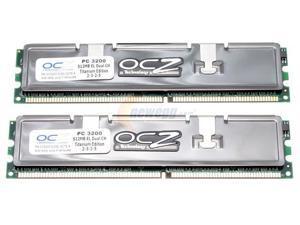 OCZ Titanium Edition 1GB (2 x 512MB) 184-Pin DDR SDRAM DDR 400 (PC 3200) Dual Channel Kit System Memory Model OCZ4001024ELDCTE-K