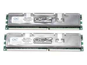 OCZ Titanium 2GB (2 x 1GB) 184-Pin DDR SDRAM DDR 400 (PC 3200) Dual Channel Kit Desktop Memory
