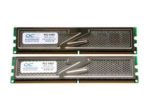 OCZ Platinum 2GB (2 x 1GB) 240-Pin DDR2 SDRAM DDR2 800 (PC2 6400) Dual Channel Kit Desktop Memory Model OCZ2P8002GK