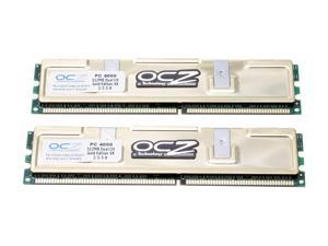 OCZ Gold Series 1GB (2 x 512MB) 184-Pin DDR SDRAM DDR 500 (PC 4000) Dual Channel Kit System Memory Model OCZ5001024ELDCGEVX-K