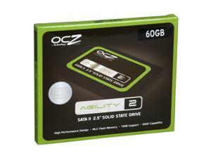 "OCZ Agility 2 OCZSSD2-2AGTE60G 2.5"" 60GB SATA II MLC Internal Solid State Drive (SSD)"