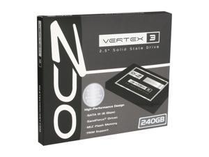 """OCZ Vertex 3 VTX3-25SAT3-240G 2.5"""" 240GB SATA III MLC Internal Solid State Drive (SSD)"""