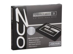 """OCZ Vertex 3 VTX3-25SAT3-480G 2.5"""" 480GB SATA III MLC Internal Solid State Drive (SSD)"""