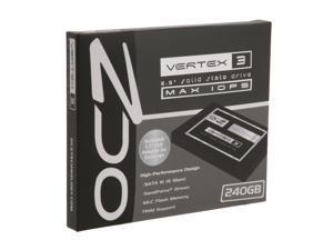 """OCZ Vertex 3 - MAX IOPS Edition VTX3MI-25SAT3-240G 2.5"""" 240GB SATA III MLC Internal Solid State Drive (SSD)"""