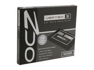 """OCZ Vertex 3 VTX3-25SAT3-60G 2.5"""" 60GB SATA III MLC Internal Solid State Drive (SSD)"""
