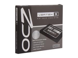"""OCZ Vertex 3 VTX3-25SAT3-256G 2.5"""" 256GB SATA III MLC Internal Solid State Drive (SSD)"""