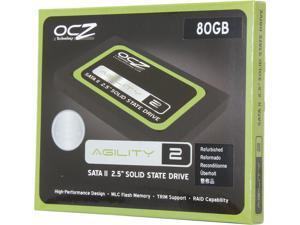 "Manufacturer Recertified OCZ Agility 2 OCZSSD2-2AGT80G 2.5"" 80GB SATA II MLC Internal Solid State Drive (SSD)"
