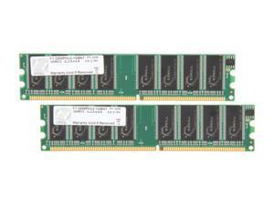 G.SKILL 1GB (2 x 512MB) 184-Pin DDR SDRAM DDR 400 (PC 3200) Dual Channel Kit System Memory Model F1-3200PHU2-1GBNT