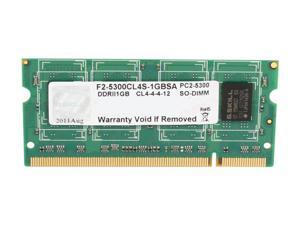 G.SKILL 1GB 200-Pin DDR2 SO-DIMM DDR2 667 (PC2 5300) Laptop Memory Model F2-5300CL4S-1GBSA