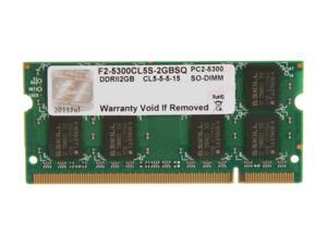 G.SKILL 2GB 200-Pin DDR2 SO-DIMM DDR2 667 (PC2 5300) Laptop Memory Model F2-5300CL5S-2GBSQ
