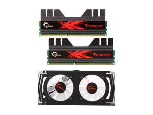 G.SKILL Trident + Turbulence II 8GB (2 x 4GB) 240-Pin DDR3 SDRAM DDR3 2000 (PC3 16000) Desktop Memory Model F3-16000CL9D-8GBTDD