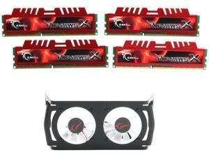 G.SKILL Ripjaws X + Fan Series 16GB (4 x 4GB) 240-Pin DDR3 SDRAM DDR3 2200 (PC3 17600) Desktop Memory Model F3-17600CL9Q-16GBXLD