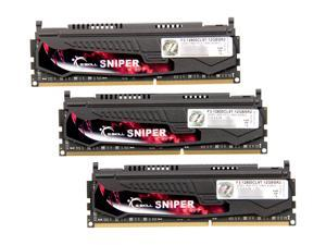 G.SKILL Sniper Gaming Series 12GB (3 x 4GB) 240-Pin DDR3 SDRAM DDR3L 1600 (PC3L 12800) Desktop Memory Model F3-12800CL9T-12GBSR2