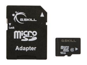 G.Skill 16GB microSDHC UHS-I/U1 Class 10 Memory Card with Adapter (FF-TSDG16GA-C10)