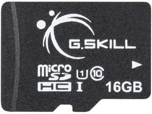 G.Skill 16GB microSDHC UHS-I/U1 Class 10 Memory Card with Adapter (FF-TSDG16GA-C10)