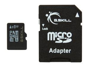 G.SKILL 16GB microSDHC Flash Card Model FF-TSDG16GA-C6