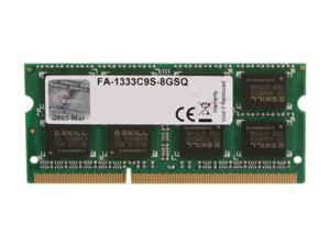G.SKILL 8GB DDR3 1333 (PC3 10600) Memory for Apple Model FA-1333C9S-8GSQ