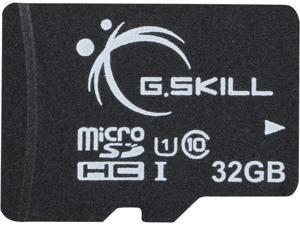 G.Skill 32GB microSDHC UHS-I/U1 Class 10 Memory Card with Adapter (FF-TSDG32GA-C10)