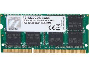G.SKILL 8GB 204-Pin DDR3 SO-DIMM DDR3L 1333 (PC3L 10600) Laptop Memory Model F3-1333C9S-8GSL