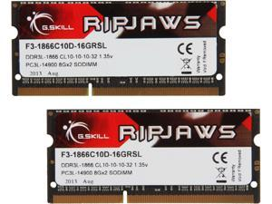 G.SKILL Ripjaws Series 16GB (2 x 8G) 204-Pin DDR3 SO-DIMM DDR3 1866 (PC3 14900) Laptop Memory Model F3-1866C10D-16GRSL