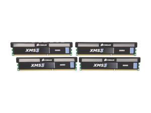CORSAIR XMS3 16GB (4 x 4GB) 240-Pin DDR3 SDRAM DDR3 1333 Desktop Memory Model CMX16GX3M4A1333C9
