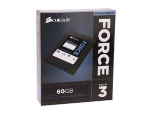"Corsair Force Series 3 2.5"" 60GB SATA III Internal Solid State Drive (SSD) CSSD-F60GB3A-BK"