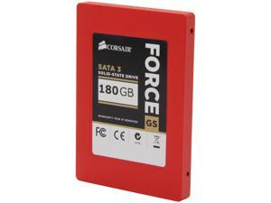"Corsair Force Series GS CSSD-F180GBGS-BK 2.5"" 180GB SATA III Internal Solid State Drive (SSD)"