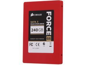 "Corsair Force Series GS CSSD-F240GBGS-BK 2.5"" 240GB SATA III Internal Solid State Drive (SSD)"