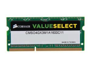 CORSAIR ValueSelect 4GB 204-Pin DDR3 SO-DIMM DDR3 1600 (PC3 12800) Laptop Memory Model CMSO4GX3M1A1600C11