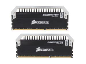 CORSAIR Dominator Platinum 8GB (2 x 4GB) 240-Pin DDR3 SDRAM DDR3 2400 (PC3 19200) Desktop Memory Model CMD8GX3M2A2400C10
