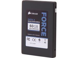 "Manufacturer Recertified Corsair Force Series 3 CSSD-F60GB3A/RF2 2.5"" 60GB SATA III Internal Solid State Drive (SSD)"