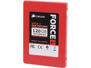 "Manufacturer Recertified Corsair Force Series GT CSSD-F120GBGT/RF2 2.5"" 120GB SATA III Internal Solid State Drive (SSD)"