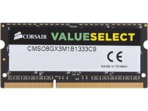 CORSAIR 8GB 204-Pin DDR3 SO-DIMM Laptop Memory Model CMSO8GX3M1B1333C9