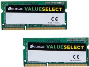 CORSAIR ValueSelect 8GB (2 x 4GB) 204-Pin DDR3 SO-DIMM DDR3L 1600 (PC3L 12800) Laptop Memory Model CMSO8GX3M2C1600C11