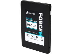 "Corsair Force LS 2.5"" 960GB SATA III MLC Internal Solid State Drive (SSD) CSSD-F960GBLSB"