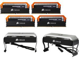 CORSAIR Dominator Platinum 16GB (4 x 4GB) 288-Pin DDR4 SDRAM DDR4 3400 (PC4 27200) Memory Kit - Limited Edition Orange, Airflow Platinum Dominator Fan Assembly Included Model CMD16GX4M4B3400C16