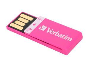 Verbatim Clip-it 4GB USB 2.0 Flash Drive (Pink) Model 97549