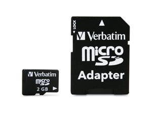 Verbatim 2GB MicroSD Flash Card Model 96168