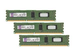 Kingston 6GB (3 x 2GB) 240-Pin DDR3 SDRAM ECC Registered DDR3 1333 Server Memory SR x8 1.35V Intel Model KVR13LR9S8K3/6I
