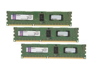 Kingston 6GB (3 x 2GB) 240-Pin DDR3 SDRAM ECC Registered DDR3 1600 Server Memory SR x8 Model KVR16R11S8K3/6