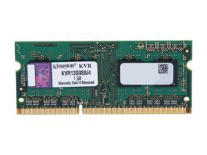 Kingston 4GB 204-Pin DDR3 SO-DIMM DDR3 1333 Laptop Memory Model KVR13S9S8/4